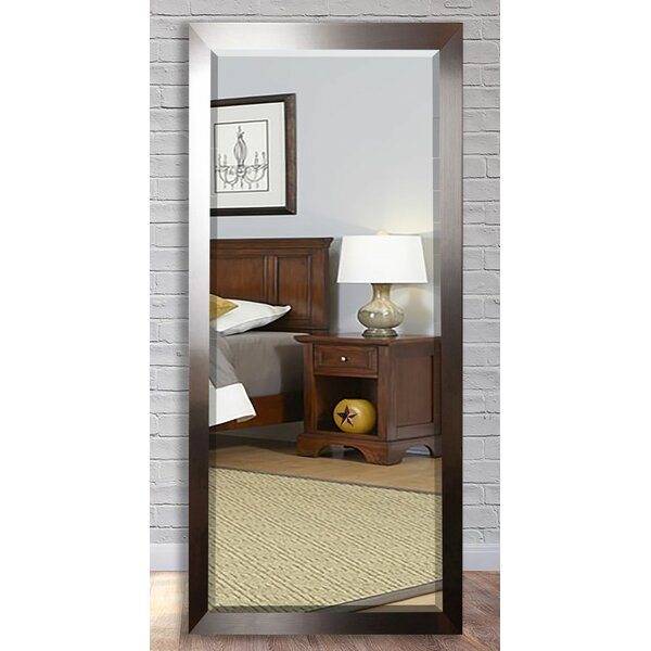 Beveled Brushed Nickel Wall Mirror by Wade Logan