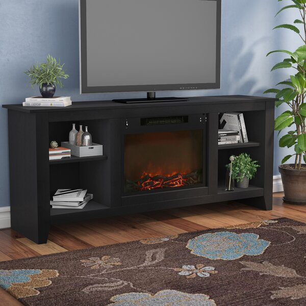Brook Hollow TV Stand with Electric Fireplace by Alcott Hill