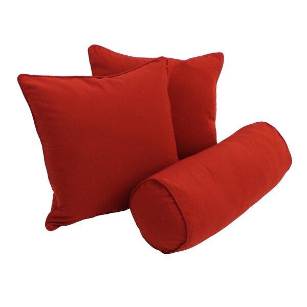 Barkbridge Indoor Cotton Throw And Bolster Pillow Set