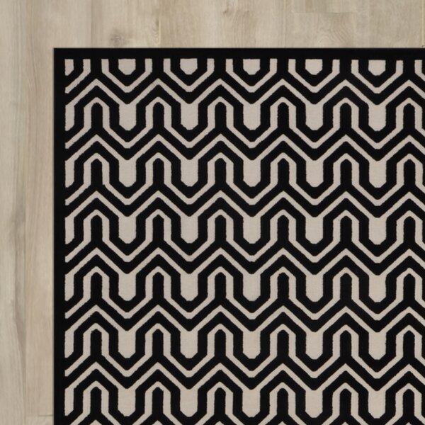 Zopyros Black/Ivory Area Rug by Mercury Row