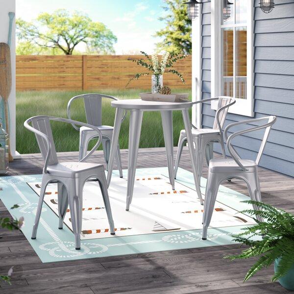 Cordele Metal Indoor/Outdoor 5 Piece Dining Set by Latitude Run