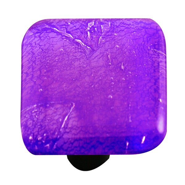 Metallic Square Knob by Aquila Art Glass