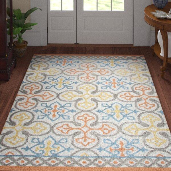 Nordmeyer Hand-Tufted Natural Wool Area Rug by Three Posts