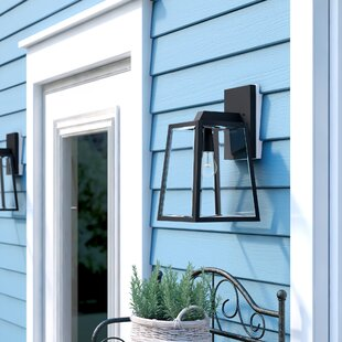Reviews Wyndham 1-Light Outdoor Wall Lantern By Darby Home Co