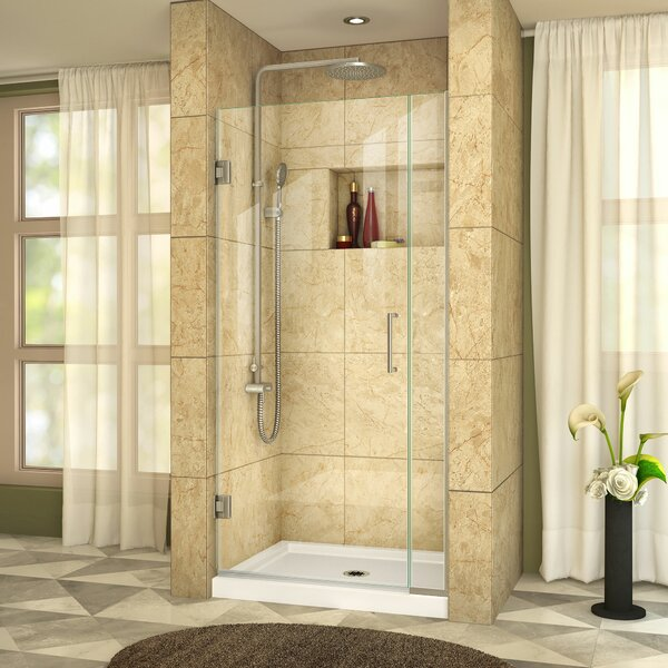 Unidoor Plus 37 x 72 Hinged Framless Shower Door with ClearMax™ Technology by DreamLine
