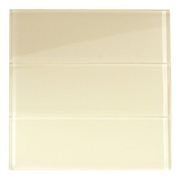 Zirconium 4 x 12 Glass Mosaic Tile in Cream by CNK Tile