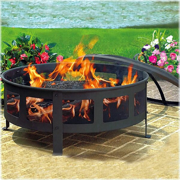 Fort Collins Steel Wood Burning Fire Pit by Charlton Home