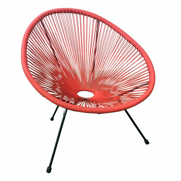 Mcmurray Woven Basket Patio Chair (Set of 2) by Bungalow Rose Bungalow Rose