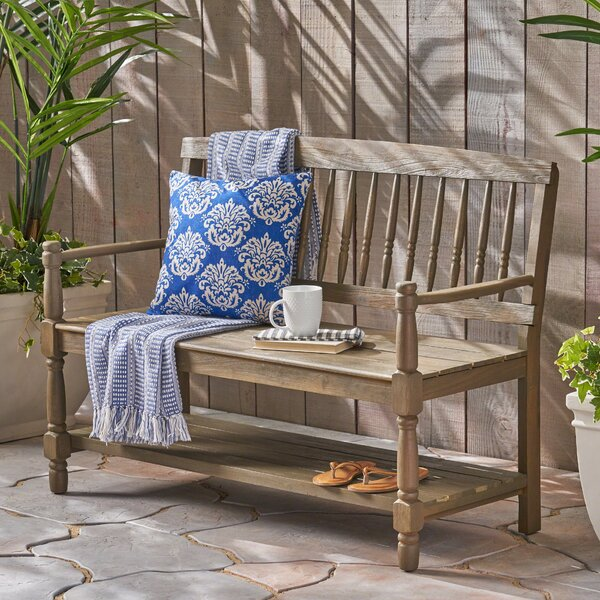 Maidste Outdoor Acacia Wood Bench by Charlton Home
