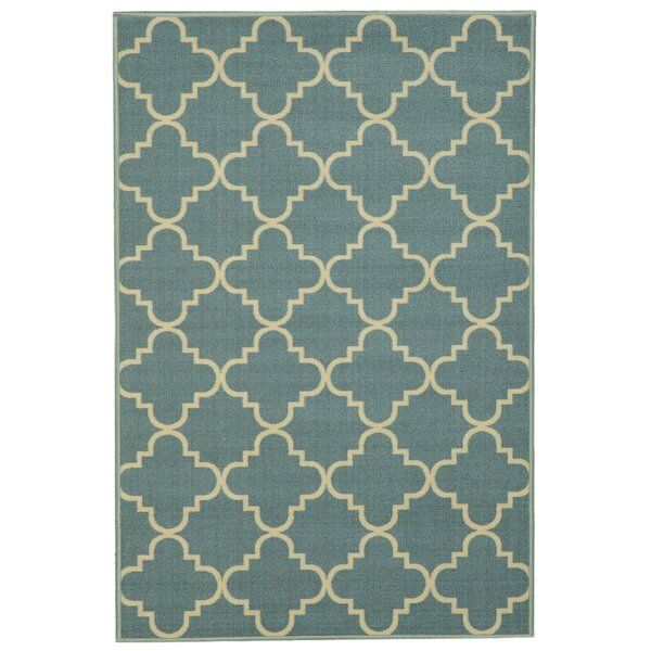 Burrillville Moroccan Trellis Ocean Blue Area Rug by Zipcode Design