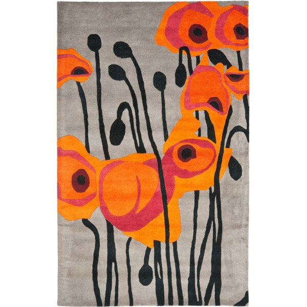 Armstrong Grey / Orange Contemporary Rug by Winston Porter