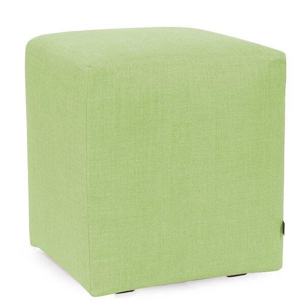 Hogans Universal Slub Grass Tufted Cube Ottoman by Ebern Designs