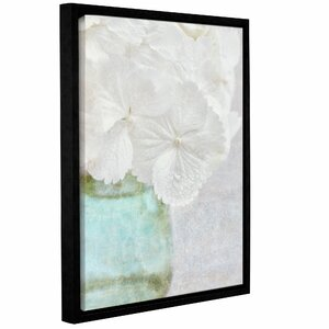 White Hydrangea Framed Painting Print on Wrapped Canvas by House of Hampton