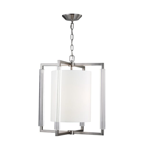 Bromley 3-Light Square/Rectangle Chandelier by Cor