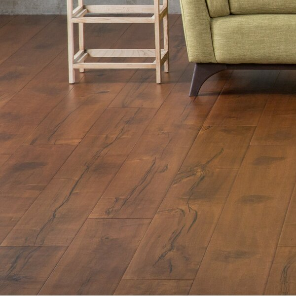 7-1/2 Engineered Maple Hardwood Flooring in Light Brown by GoHaus