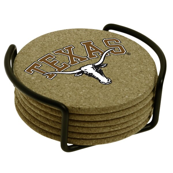 7 Piece University of Texas Cork Collegiate Coaster Gift Set by Thirstystone