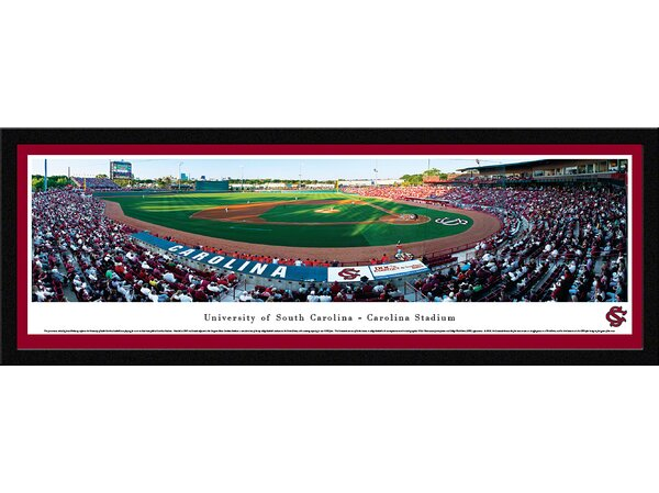 NCAA South Carolina, University of - Baseball by James Blakeway Framed Photographic Print by Blakeway Worldwide Panoramas, Inc