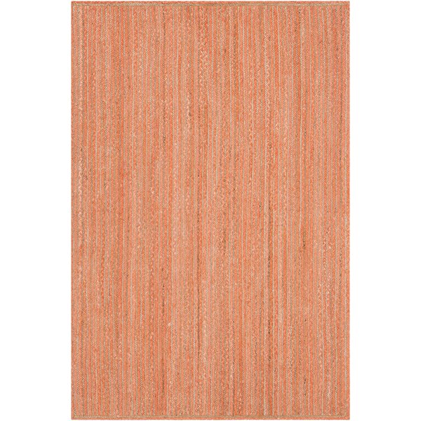 Yother Textured Contemporary Orange Area Rug by Brayden Studio