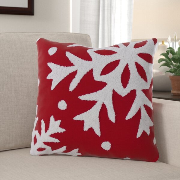 Caruso Snowflake Throw Pillow by The Holiday Aisle