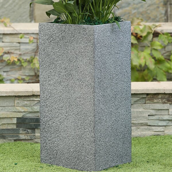 Dreer Square Tall Stone MgO Fiberclay Pot Planter by Williston Forge