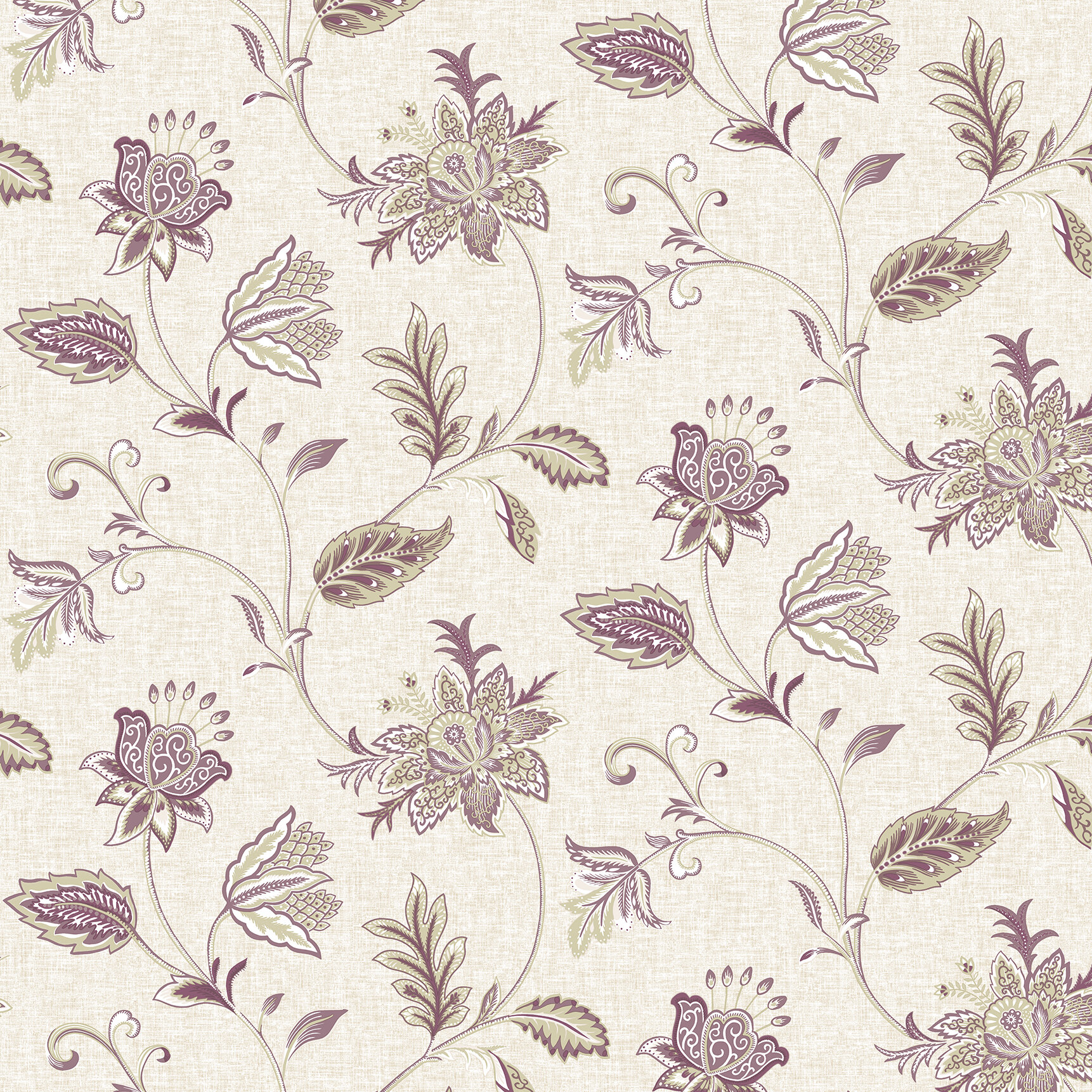 World Menagerie Jacobean 33 X 20 5 Floral Wallpaper Wayfair