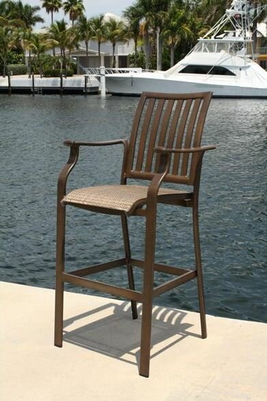 Leeward Islands Patio Bar Stool by Panama Jack Outdoor