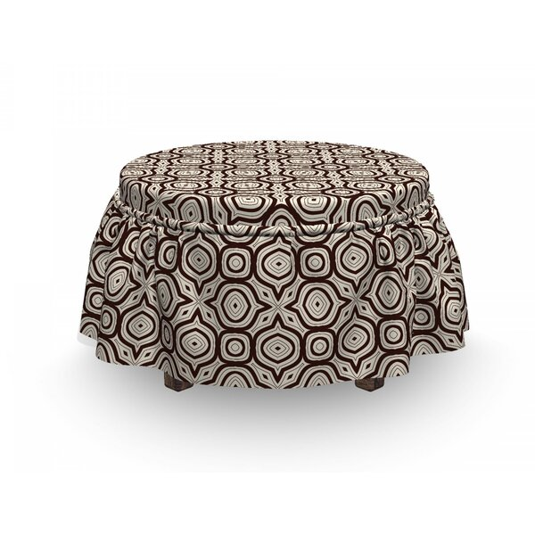 Symmetric Ornament Ottoman Slipcover (Set Of 2) By East Urban Home