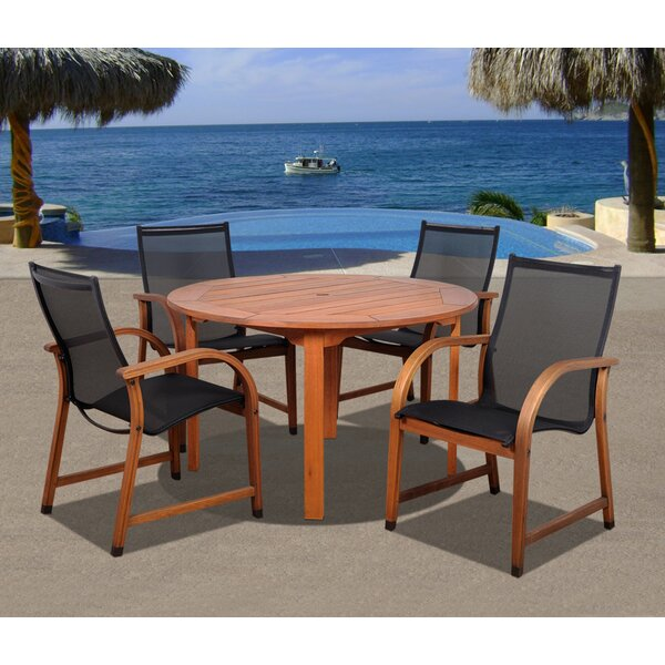 Ely 5 Piece Dining Set by Beachcrest Home