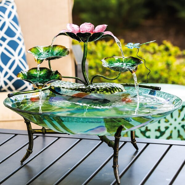 Dragonfly at the Lake Birdbath Fountain Attachment Statue by Evergreen Enterprises, Inc