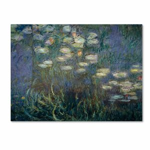 Water Lilies 1840-1926 by Claude Monet Painting Print on Wrapped Canvas by Trademark Fine Art