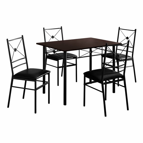 Cantero 5 Piece Dining Set by Winston Porter