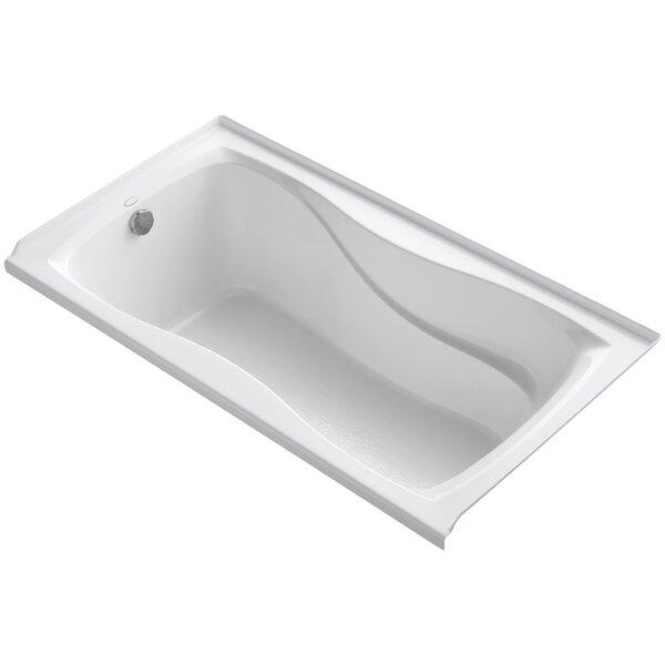 Hourglass Alcove 60 x 32 Soaking Bathtub by Kohler