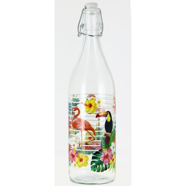 Stribling Island Lory 33.75 oz. Glass Water Bottle (Set of 2) by Bay Isle Home