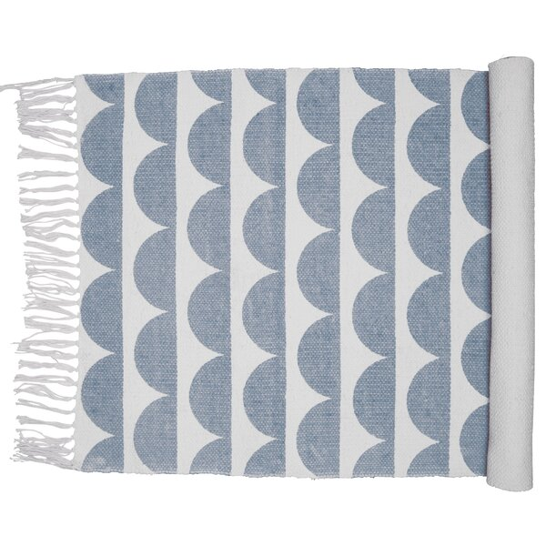 Kids Oslo Carpet Steel Blue Area Rug by Eightmood