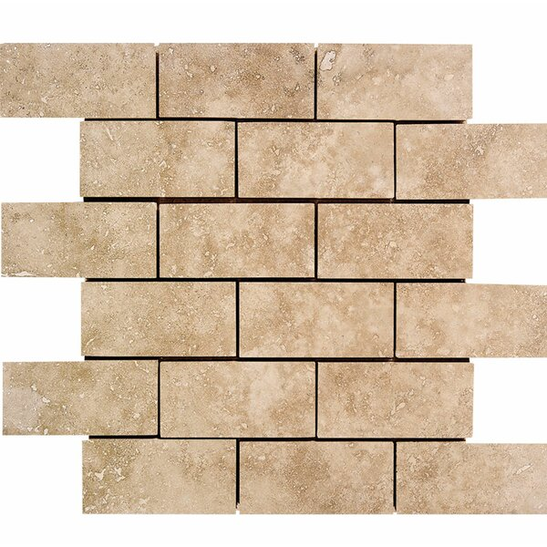 2 x 4 Stone Mosaic Tile in Walnut by Parvatile