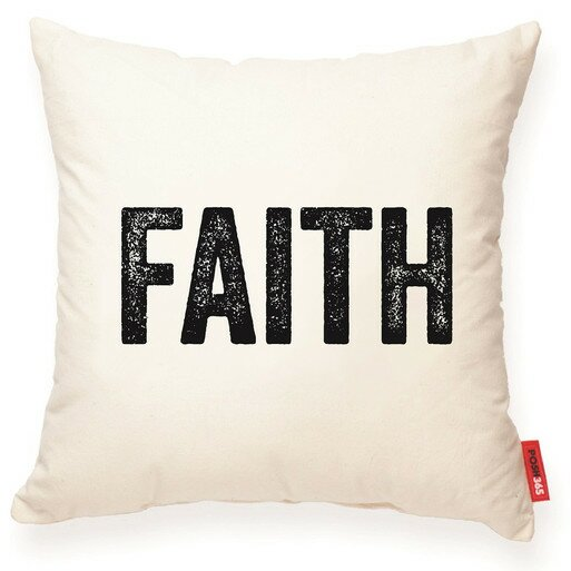 Expressive Faith Decorative Cotton Throw Pillow by Posh365