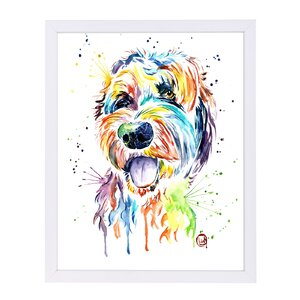 'Golden Doodle' by Lisa Whitehouse Framed Graphic Art by East Urban Home