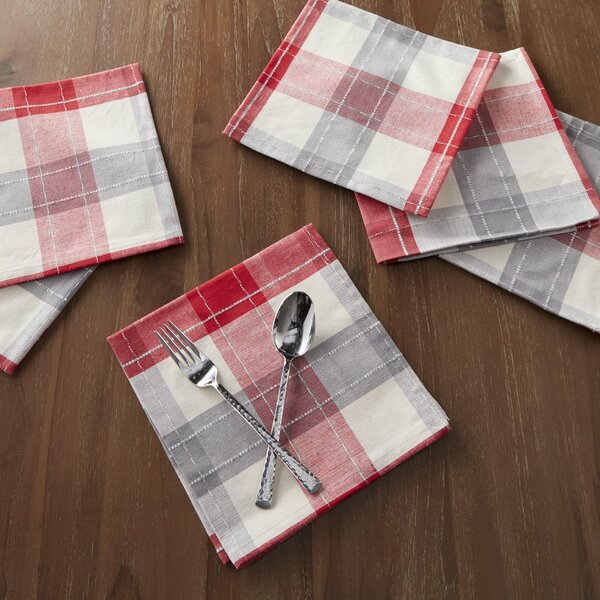 Gonesse 18 Woven Nordic Plaid Napkin (Set of 6) by Laurel Foundry Modern Farmhouse
