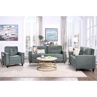 Orisfur. Sofa Set Morden Style Couch Furniture Upholstered Armchair, Loveseat And Three Seat For Home Or Office (1+2+3-Seat) by Latitude Run®