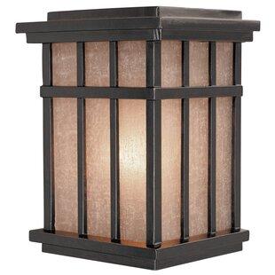 Inexpensive Tenleytown Rustic 1-Light Outdoor Wall Lantern By Bloomsbury Market