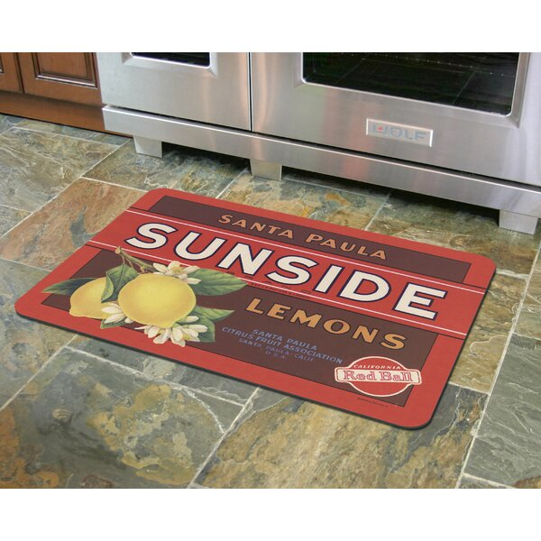 Molimo Sunside Lemons Kitchen Mat