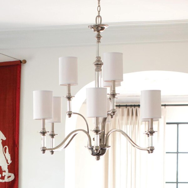 Harrison 9-Light Shaded Chandelier by Canora Grey