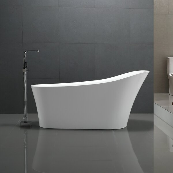 Maple Series 67 X 31 Freestanding Soaking Bathtub By Anzzi.
