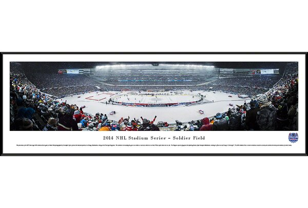 NHL 2014 Stadium Series by Christopher Gjevre Framed Photographic Print by Blakeway Worldwide Panoramas, Inc
