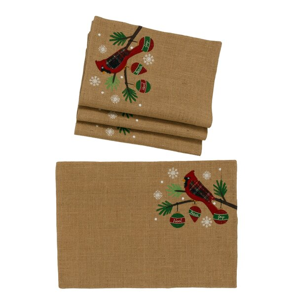 Garvin Cardinal Noel Peace Christmas 19 Placemat (Set of 4) by The Holiday Aisle