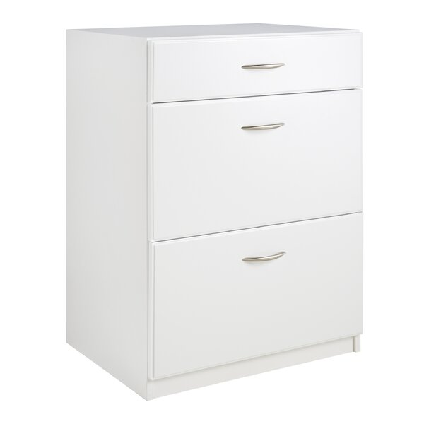 "Dimensions 35.51"" H x 24.02"" W x 18.03"" D 3 Drawer Base Cabinet by ClosetMaid"