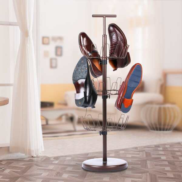 3 Tier Revolving Rack Tree 18 Pair Hanging Shoe Organizer