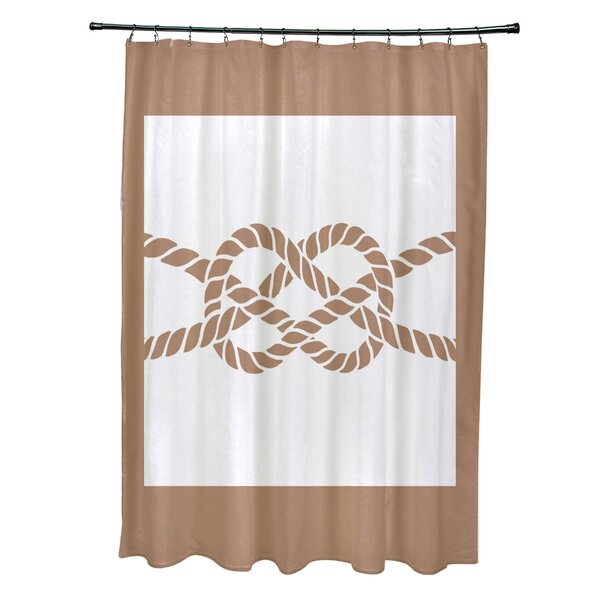 Hancock Nautical Knot Geometric Shower Curtain by Breakwater Bay