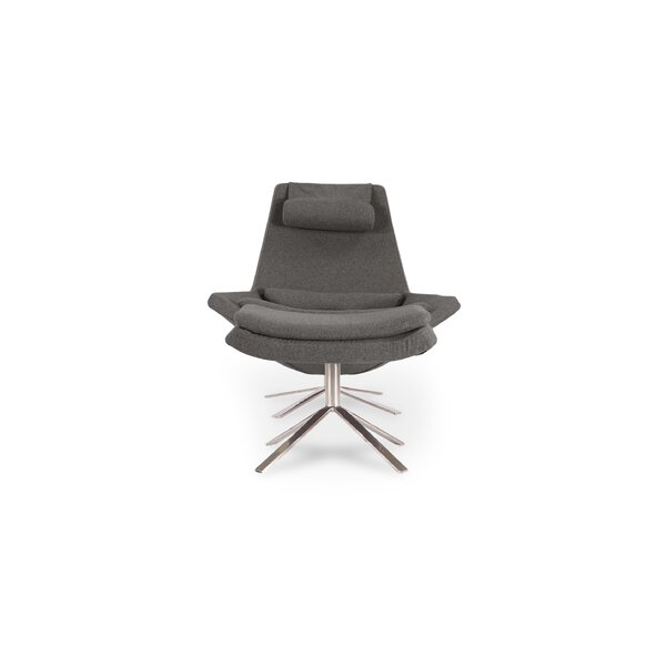 Blunt Modern Swivel Lounge Chair and Ottoman by Orren Ellis