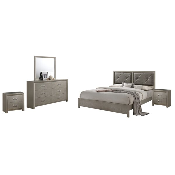 Easterling Standard 5 Piece Bedroom Set by Mercer41